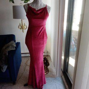 Red Velvet Long Maxi Dress